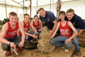 1 Students from Plumpton College sheep shearing at SOES