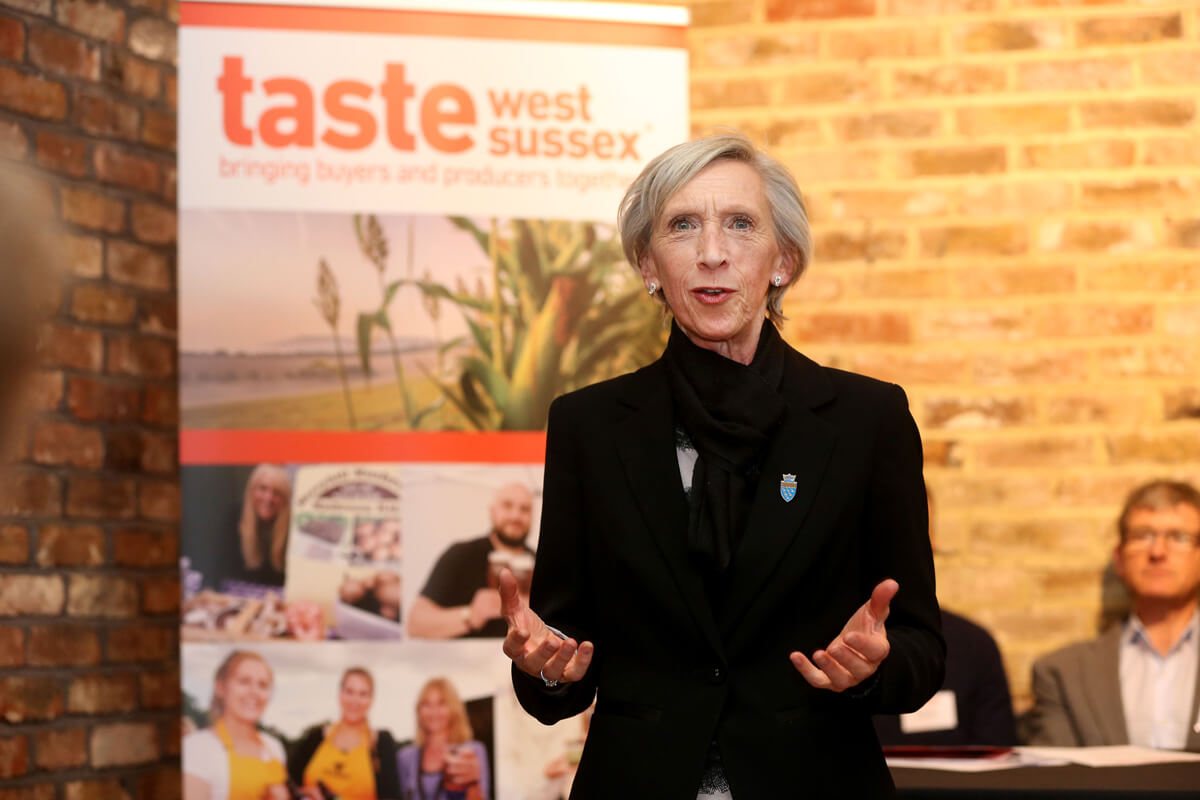 Cllr Louise Goldsmith opens Taste West Sussex Meet the Producer Event