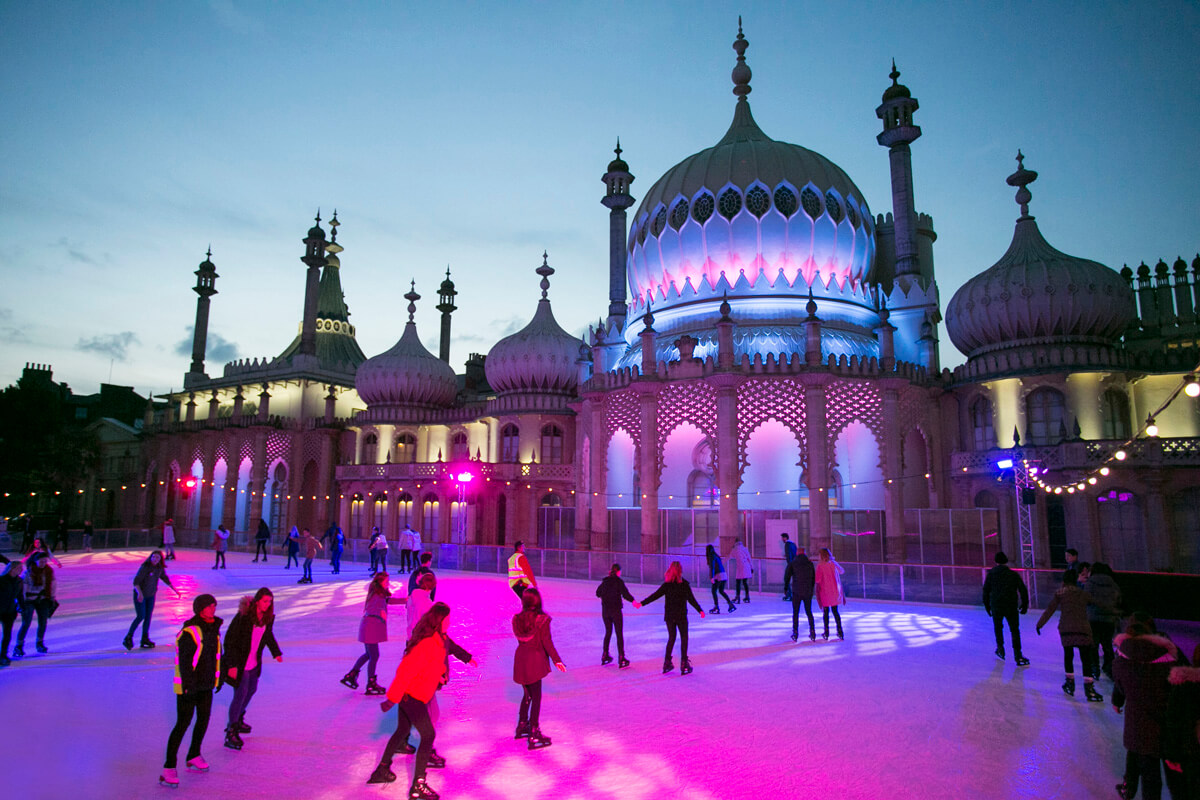 Twilight at Royal Pavilion Ice Rink - credit Brighton Pictures